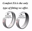 Black-Tungsten-Carbide-Band-Engagement-Ring-with-Black-Line-Men-039-s-Jewelry thumbnail 8
