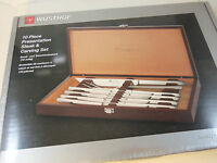 Wusthof 10 Piece Presentation Steak Knife Set With Carving Knife And Fork - 1