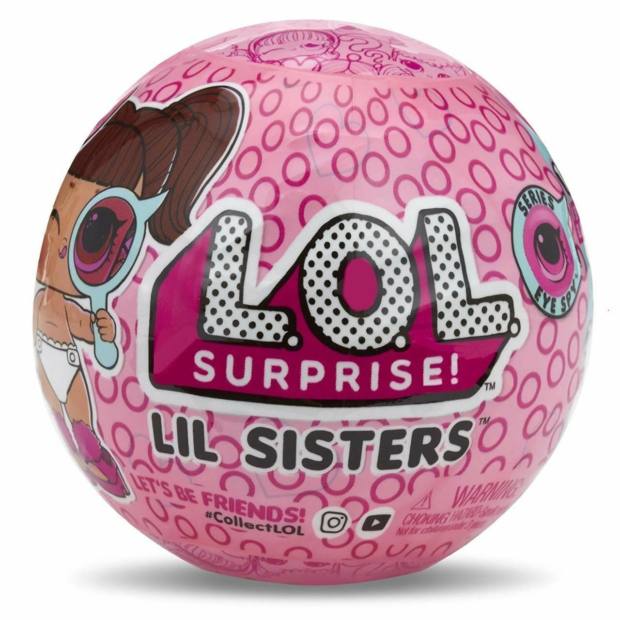 LOL Surprise Lil Sisters Eye Spy IN HAND Series 4 Wave 1 Little L.O.L 1 Ball NEW