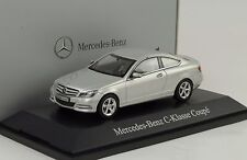 2011 Mercedes-Benz C Class Klasse Coupe C204 silber 1:43 Norev Dealer