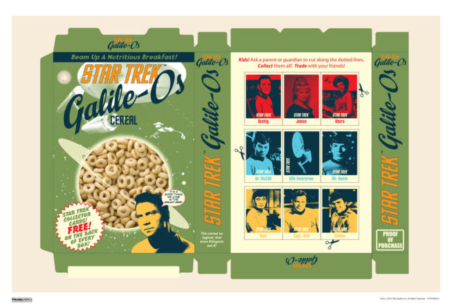 Star Trek GalileOs Cereal 50th Anniversary TV Show Poster 13x19 inch