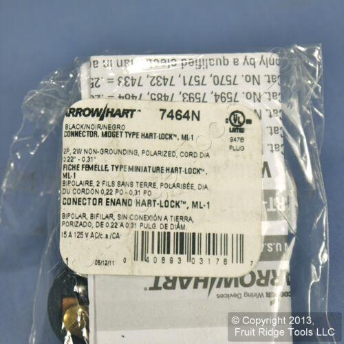 Cooper Hart-Lock ML1 Midget Twist Locking Connector Plug NEMA ML1R 15A 125 7464N