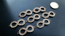 7 Entrepiezas Medianas Zamak, INFINITO STRASS, abalorios, Beads,Chapelet, Perlen