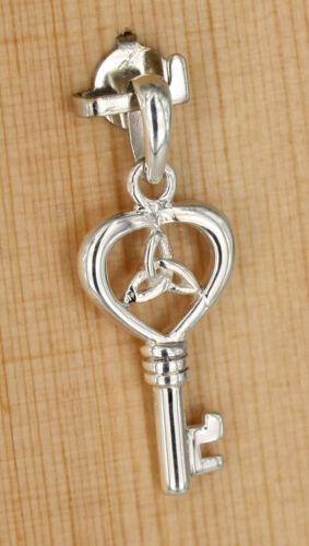 keltische  Dreifaltigkeit Symbol Schlüssel Glücksbringer Anhänger Silber