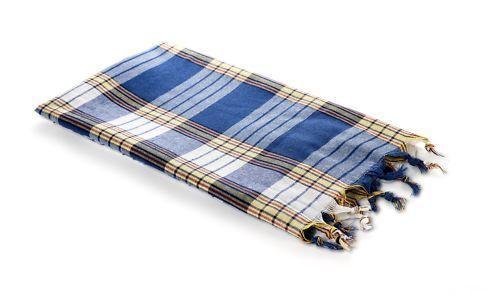 8 x Pestemal Hamamtuch Saune plaid serviette Carreau Bleu Nouveau seulement 3,74 €//pcs.