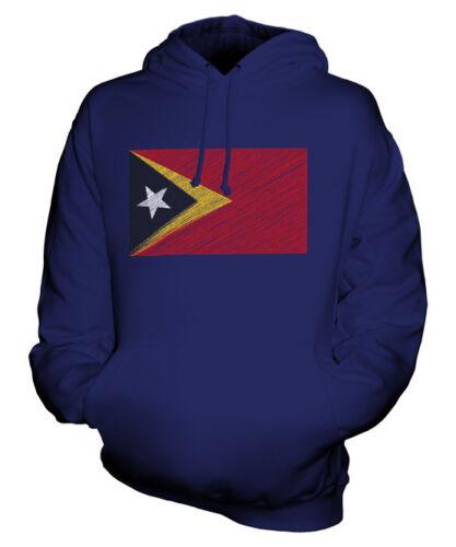 Regalo E Lorosa' Felpa Idea Scarabocchiato Unisex Bandiera Maglia Timor East 0xwgqFzF