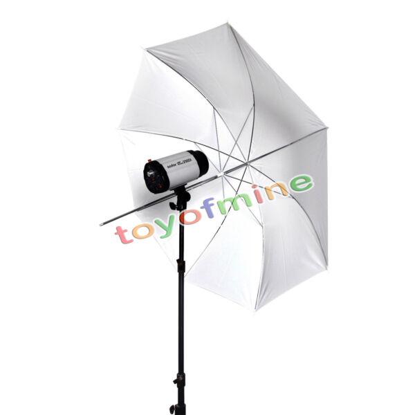 43' Soft White Umbrella Translucent Diffuser For Photo Studio Lighting Stand Kit