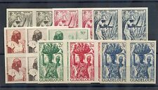 GUADELOUPE Sc 189-205 IMP(YT 197-213 IMP)**VF NH SET IN IMPERF PAIRS  $600