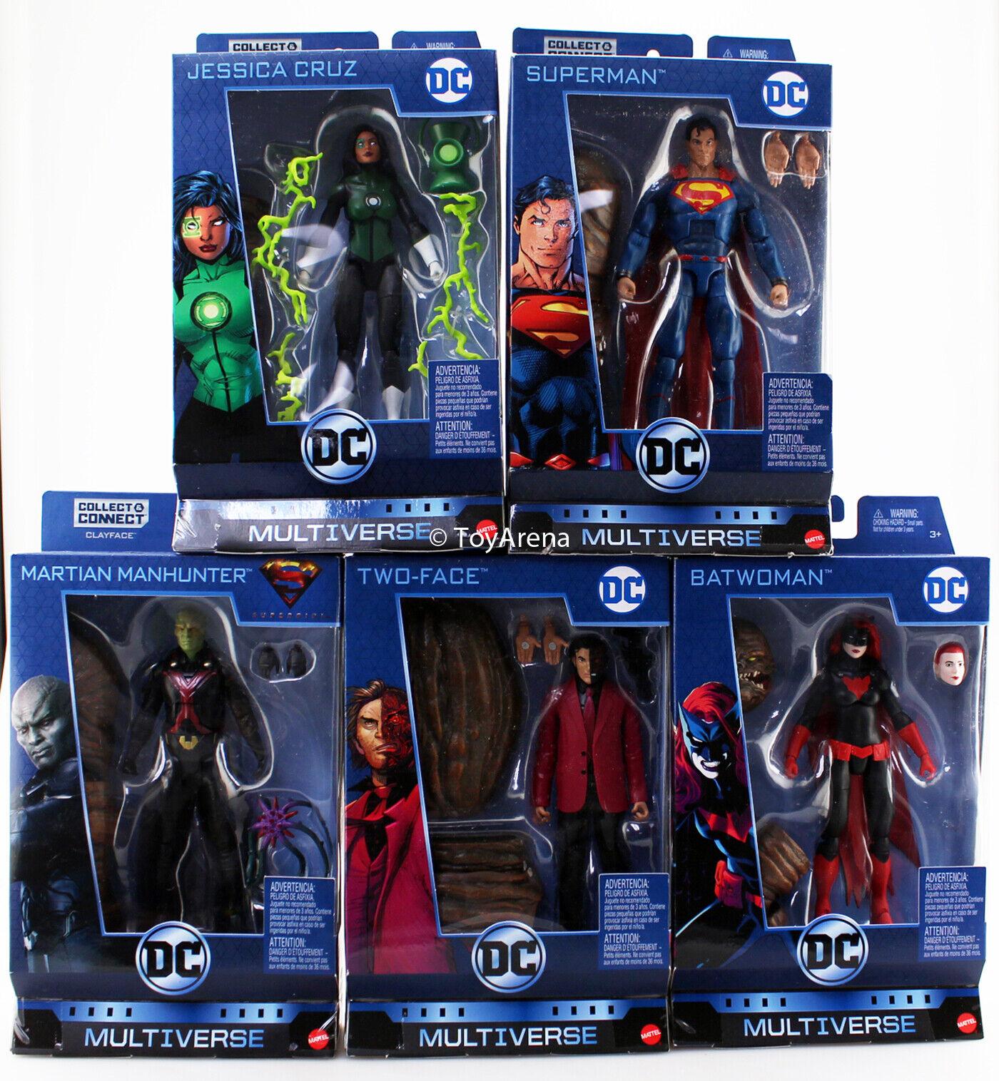DC Multiverso Clayface BAF 5 Set Jessica SUPERuomo Segugio di Marte due facce Batdonna