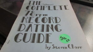 the almost complete 78 rpm record dating guide