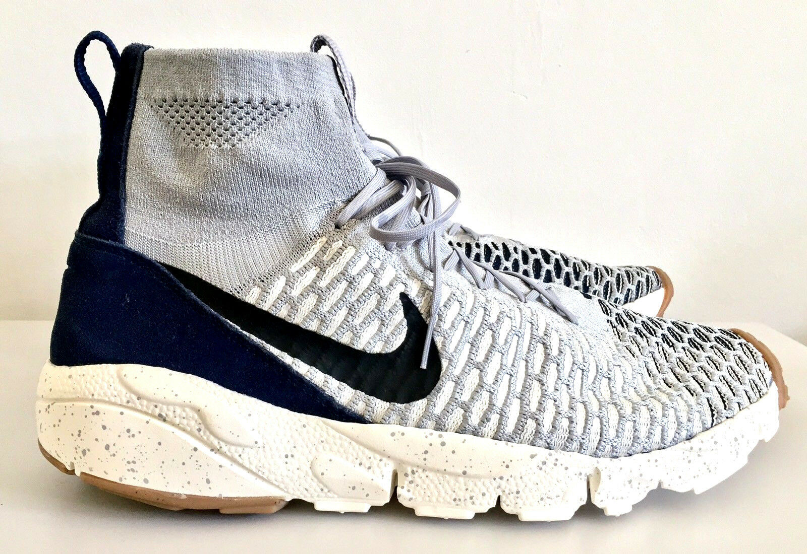 Nike Air Footscape Magista Flyknit Gris Blanc Baskets Taille Taille Taille 47 cc931a