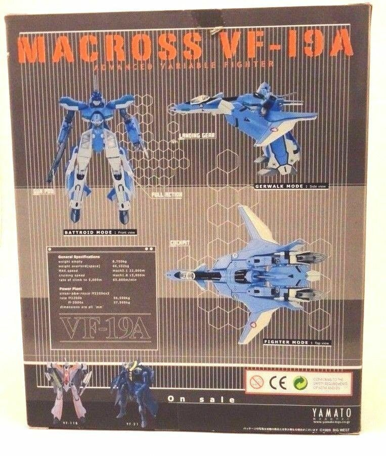 Yamato VF-19A Macross VALKYRIE ROBOTECH Japan 1 72 color color color Version from VF-X2 New e78d24