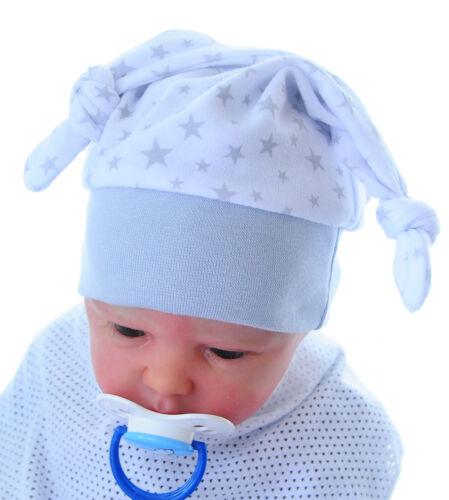 ERSTLINGSMÜTZE 36-46 Mütze Babymütze Haube Mützchen Kotenmütze Zipfelmütze Uni