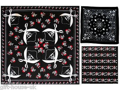 White Skull Bandana Bandanna Gothic Headwear//Hair Band Scarf Neck Wrist HeadtiB3