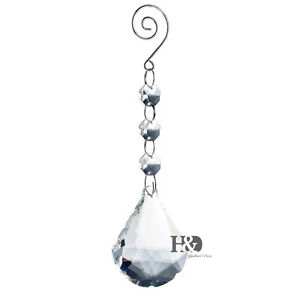 Clear-Hanging-Sector-Crystal-Chandelier-Lamp-Prism-Feng-Shui-Drops-Pendants-50mm
