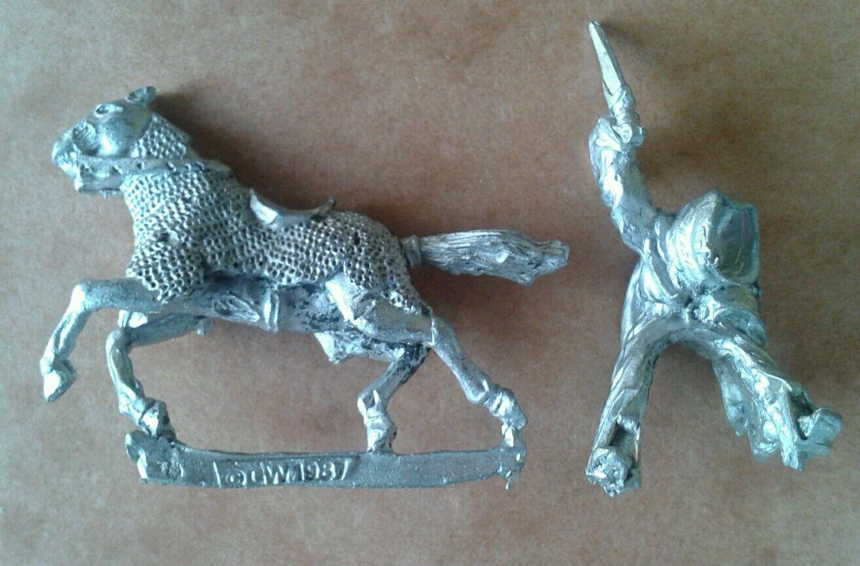 LOTR Citadel Mounted Ringwraith ME64 Metal Slotta Miniature RARE