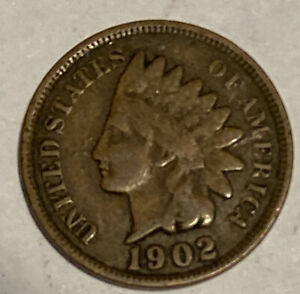 Very Good 1902 Indian Head Cent 118 Year Old Penny Quantity Discount