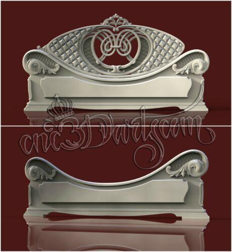 2 3D STL Models Double BED for CNC Router Carving Machine Artcam aspire Cut3D