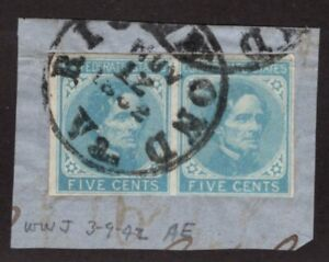 U.S. - Confederate 6 - Pair - With Richmond - Nov 12, 1862 cancel