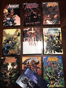 NEW AVENGERS LOT OHC BENDIS Civil War Disassembled Millar 1 2 3 4 5 6 7