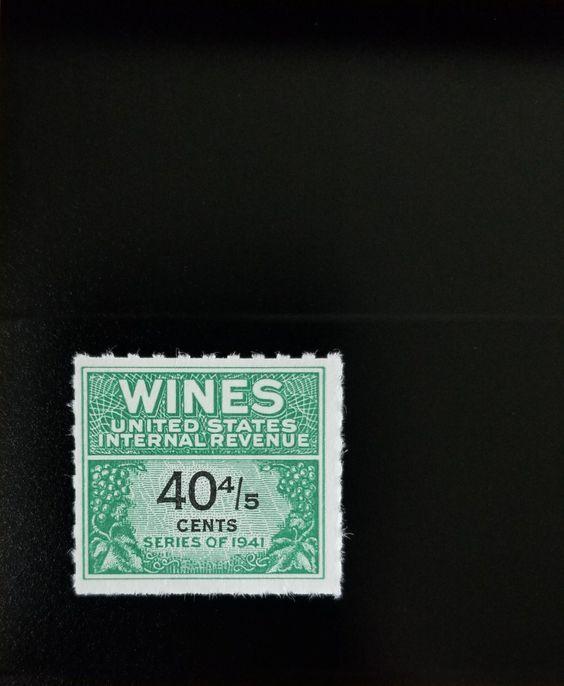 1951-54 40 4/5c U.S. Internal Revenue Cordial & Wine, G