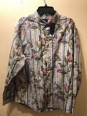 Tommy Bahama Mens Jungle Mist Long Sleeve Button Down Shirt NWT $128 MSRP