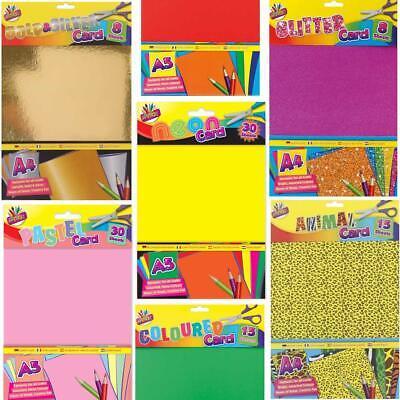 Art School Design Animal A4 A5 Neon Metallic Glitter Gold Coloured Craft Card