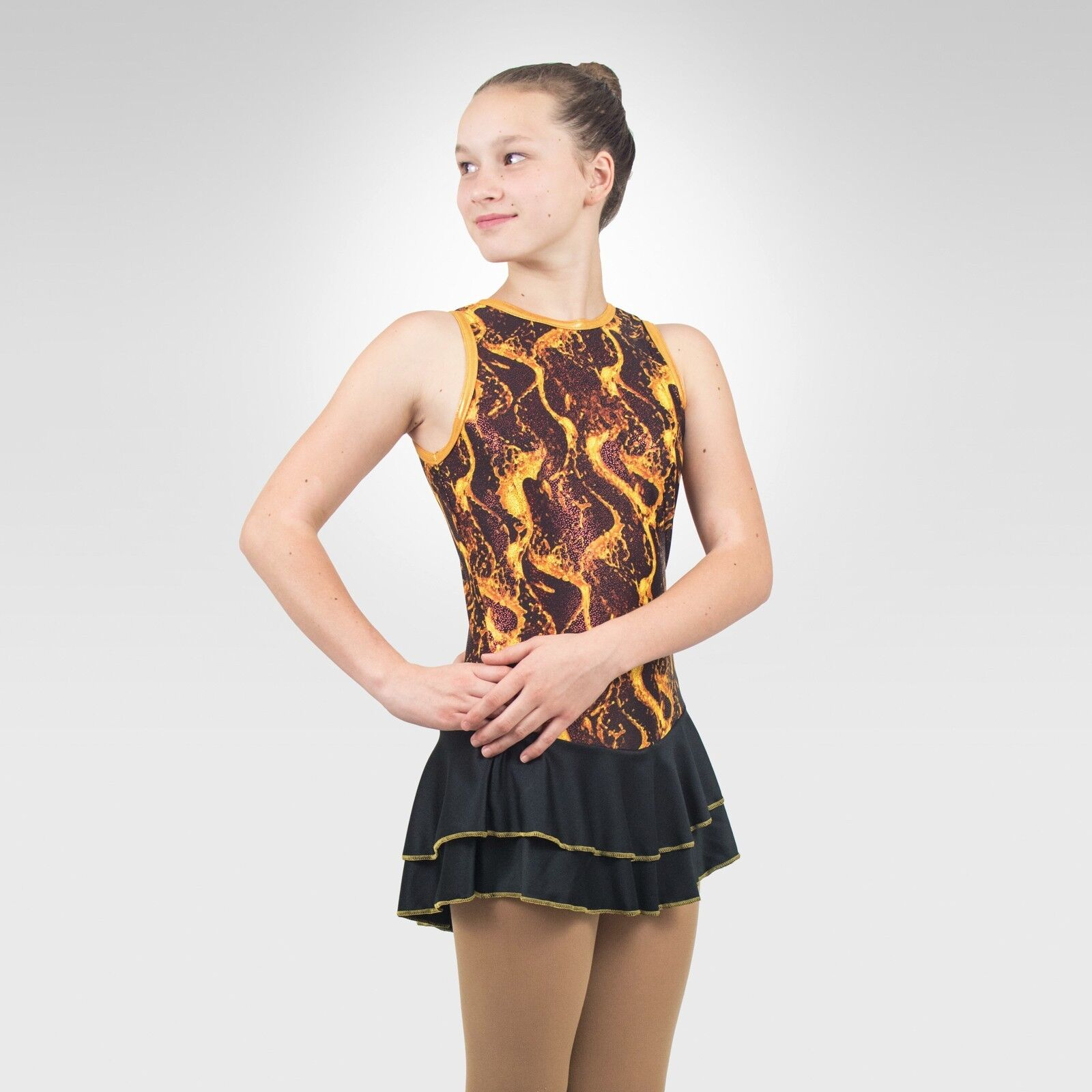 Ice Skating Figure Skating  Dress size size size XSMALL adult multi-color print 398873