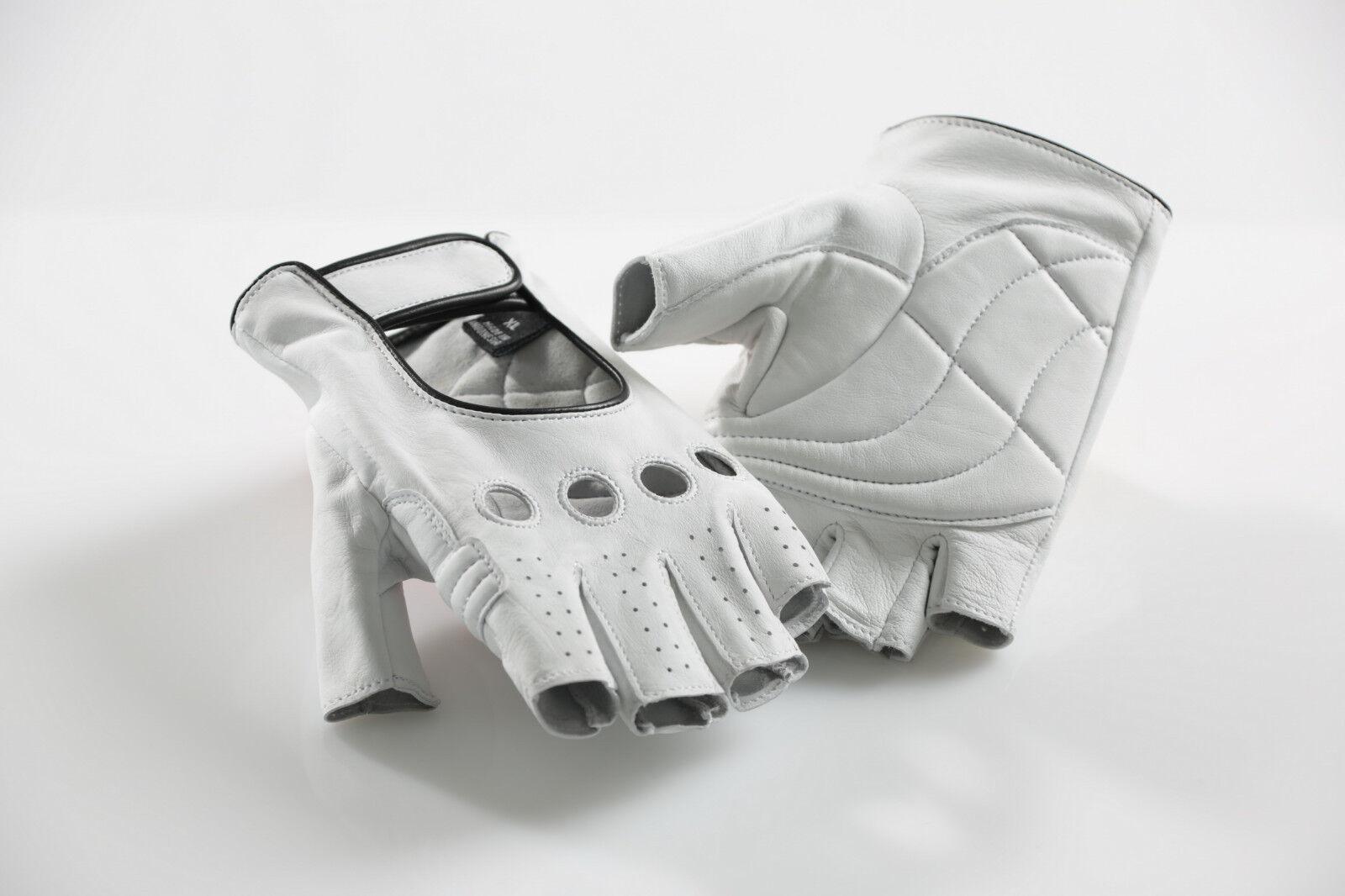 Cicli-Franconi Fahrrad Handschuhe Leder halbfinger weiß retro retro retro cycle gloves 2d2499