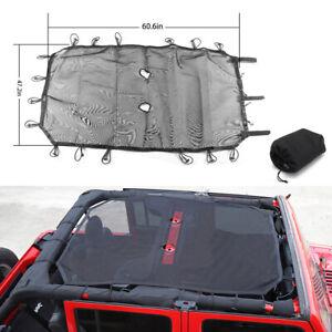 Fits Jeep Wrangler 07-17 JK 4 Door Roof Mesh Sunshade Top Cover UV Protection