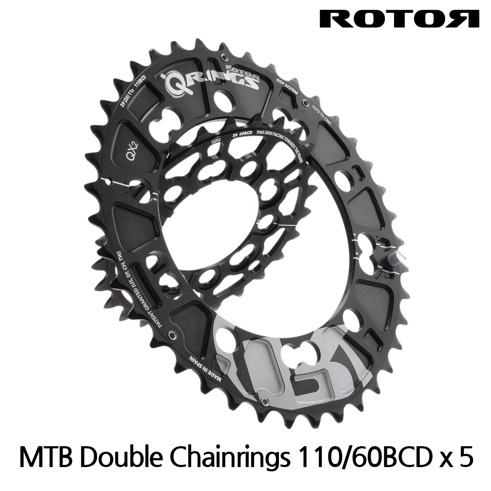 redOR MTB qrings Oval Chainrings QX2-Double chainring-110 60BCD,104 64BCD,Sram