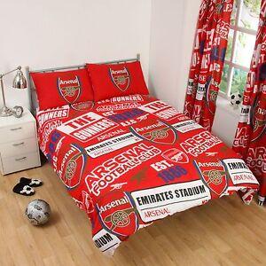 Arsenal-FC-039-Empiecement-039-Set-Housse-de-Couette-Double-Neuf-Football