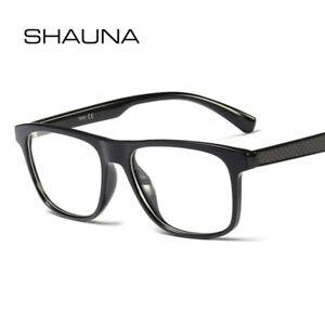 84aff73f180 Image is loading Classic-Carbon-Fiber-Eyeglasses-Frame-Resin-Lens-Men-