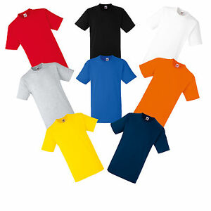 PLAIN-FRUIT-OF-THE-LOOM-COTTON-T-SHIRT-S-M-L-XL-XXL