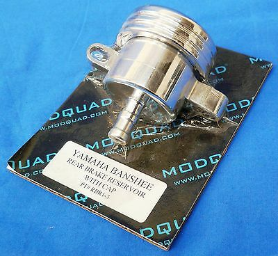 YAMAHA YFZ 350 YFZ350 BANSHEE MODQUAD POLISHED BILLET REAR BRAKE RESERVOIR + CAP