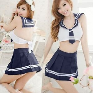 japanese lady 39 s cosplay wear student clothing sexy uniforms costume sailor suit ebay. Black Bedroom Furniture Sets. Home Design Ideas
