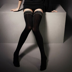 eea4fbccaed Image is loading Thick-Opaque-Hold-ups-Stay-Ups-Stockings-034-