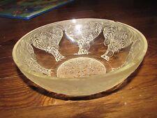 "R LALIQUE ""Verrerie d'Alsace"" Glass Crystal Bowl Signed 8"" diameter Rene VASES"