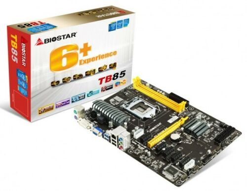BIOSTAR-TB85-LGA-1150-Intel-B85-Motherboard-ETH-ZCASH-ZEC-NEW-3-YEAR-WARRANTY