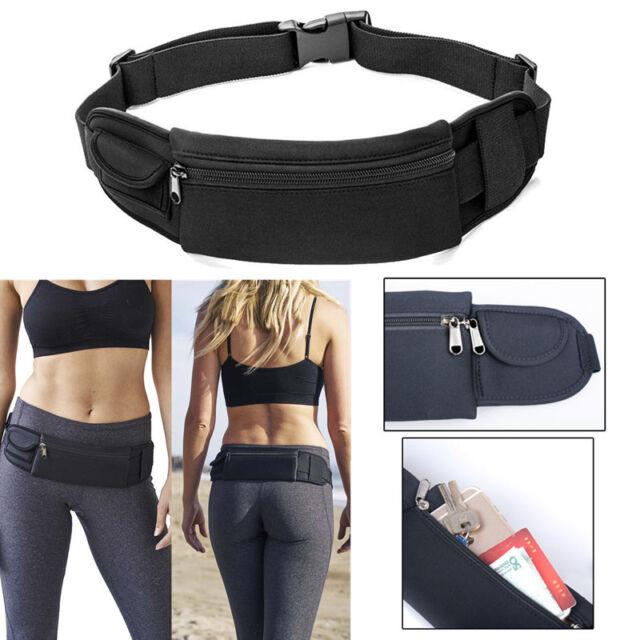 8f08a8bd4d6e Waterproof Sport Zip Waist Belt Bum Bag Pouch Running Fanny Pack for  Cellphone
