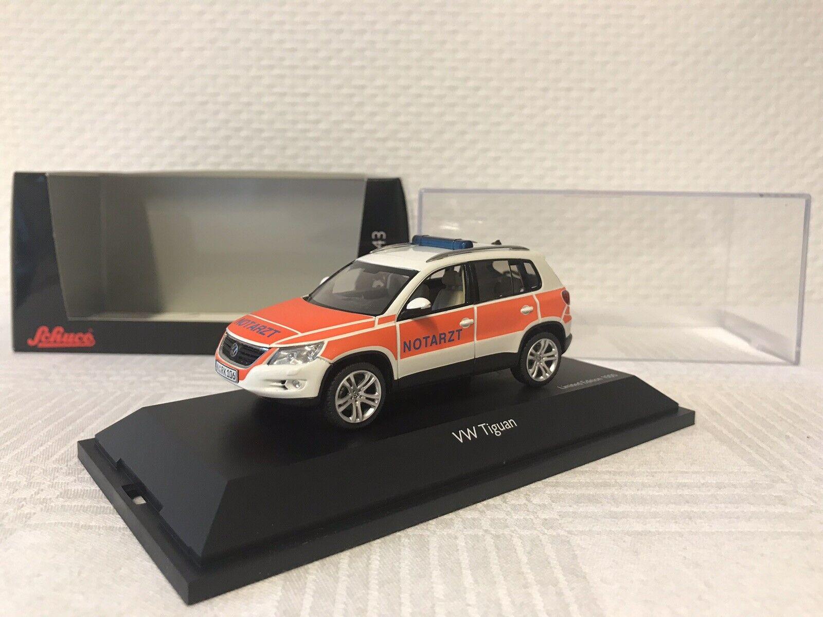 Schuco 1 43 VW TIGUAN 2.0 TDI BERLINA Edition pronto soccorso regalo modello di auto giocattolo