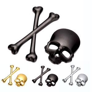 3D-Skeleton-Skull-Bone-Window-Car-Truck-Logo-Emblem-Badge-Metal-Sticker-Decal-US