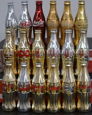 Lot of 18 GOLD & SILVER Commemorative Coca-Cola Bottles