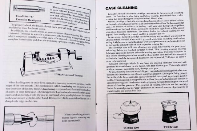 Lyman Universal Case Trimmer Reloading Owner User Manual