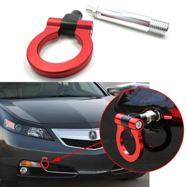 Sporty Red JDM Style Aluminum Tow Hook Kit For Acura TLX