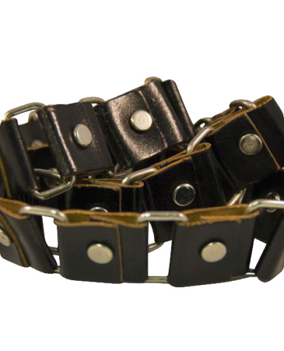 NO SKU Black and Silver Grommet Belt