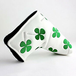Leather-Putter-Head-Cover-PU-Golf-Protection-Blade-Headcover-Closure-US-Stock