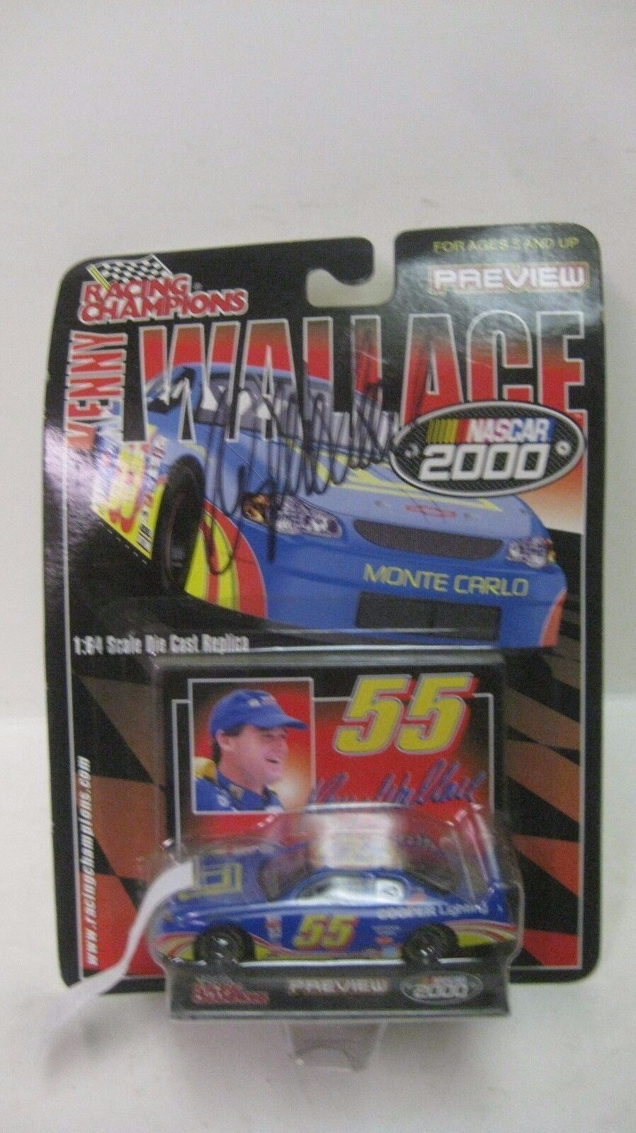 Rare Nascar 2000 Kenny Wallace Autographed Monte Carlo 1 64 Diecast NEW dc1412