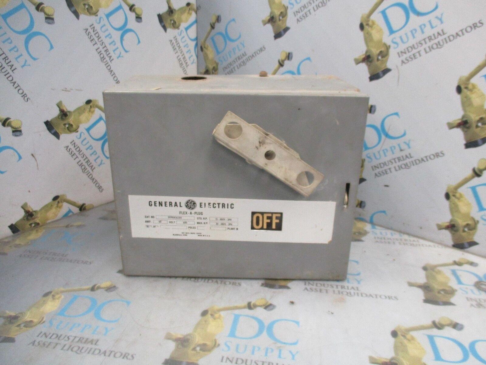 GENERAL ELECTRIC DFPHA362DE 60 A 600 V 3 PH 50 HP 3 P BUS PLUG ENCLOSURE