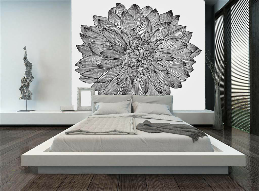 3D Elegant Flowers 53 Wall Paper Wall Print Decal Wall Deco Indoor Mural Lemon